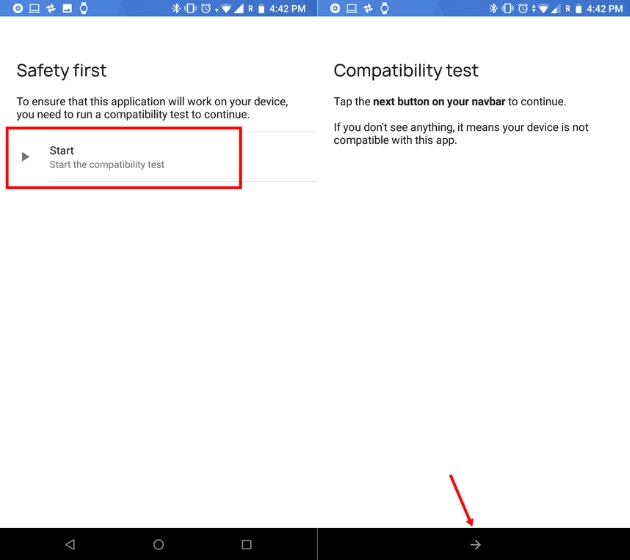 Настройте панель навигации на Android 4