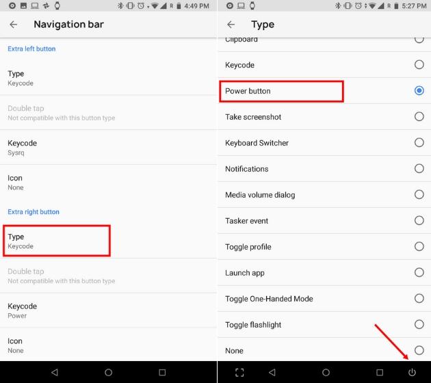 Настройте панель навигации на Android 7