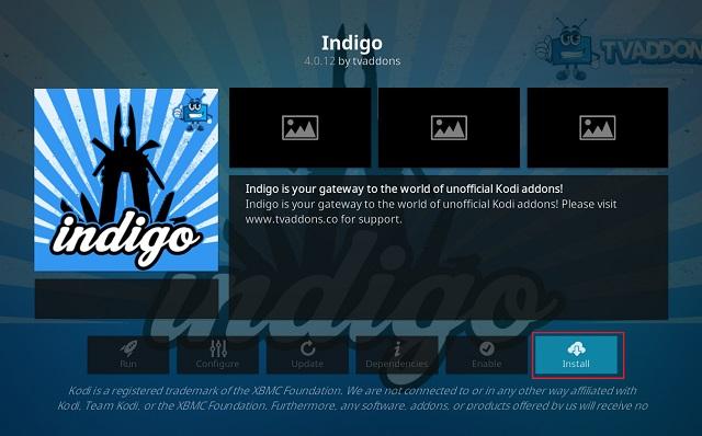 Очистить кэш на Kodi с помощью дополнения Indigo 7