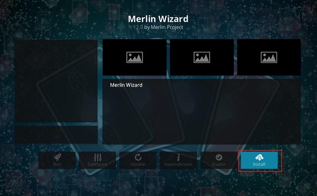Очистить кэш на Kodi с помощью дополнения Merlin Wizard 10