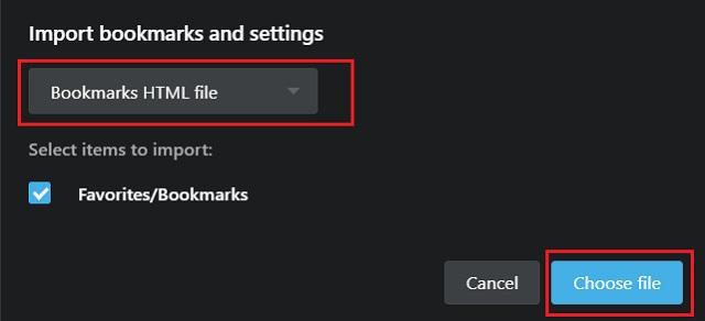 Импорт закладок Chrome в Opera 2