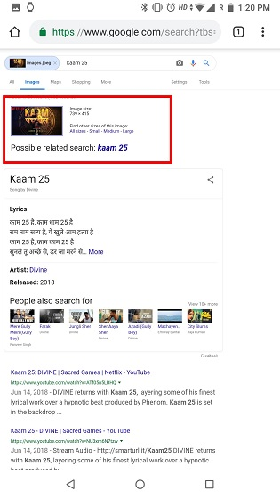 Обратный поиск изображений на телефоне с помощью Google Images Desktop Site (Android и iOS) 4