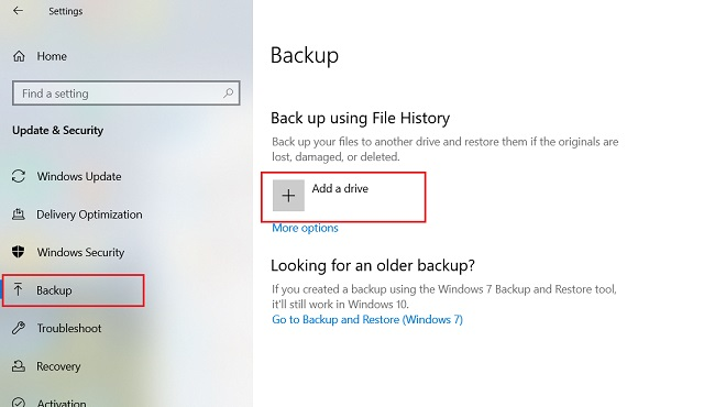 Hacer una copia de seguridad de los archivos importantes mediante el historial de archivos 2