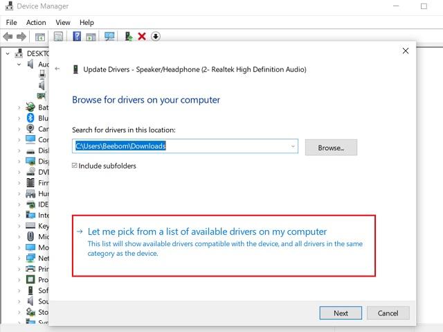 Обновите Realtek HD Audio Driver вручную 2