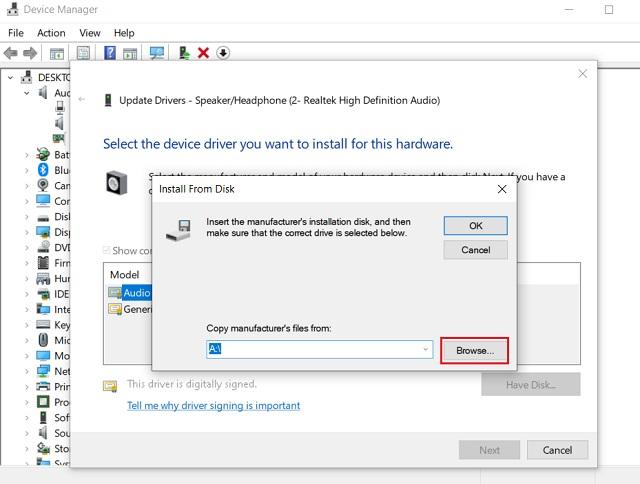 Обновите драйвер Realtek HD Audio вручную 7