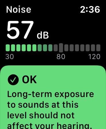 Проверьте уровень шума на Apple Watch