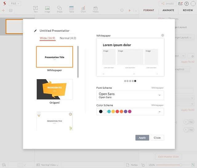 Zoho Show - лучшие альтернативы Microsoft PowerPoint