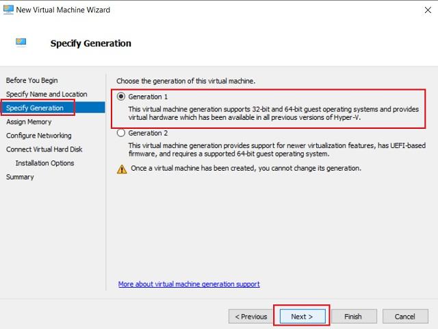 Cree una máquina virtual en Windows 10