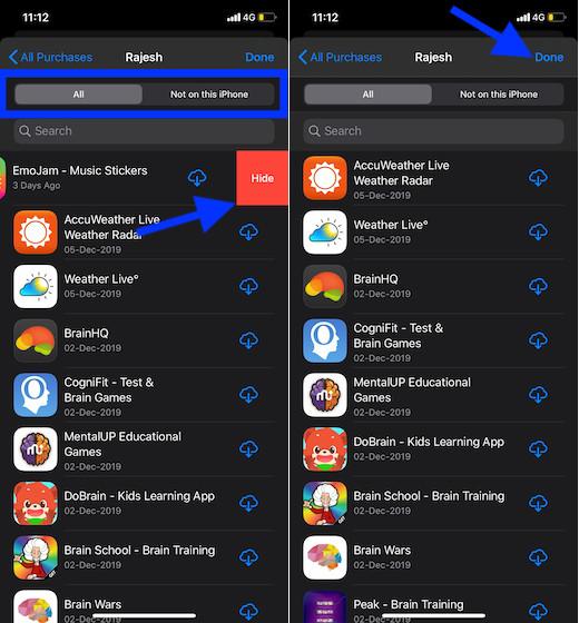 Скрыть приложения на iOS