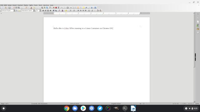 2. Libre Office Лучшие приложения для Linux на Chromebook
