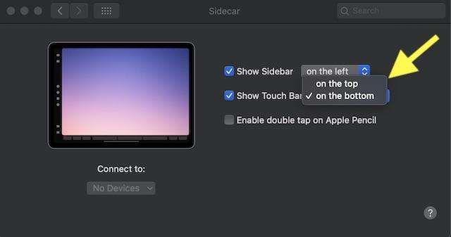Mostrar: ocultar la barra táctil en Mac