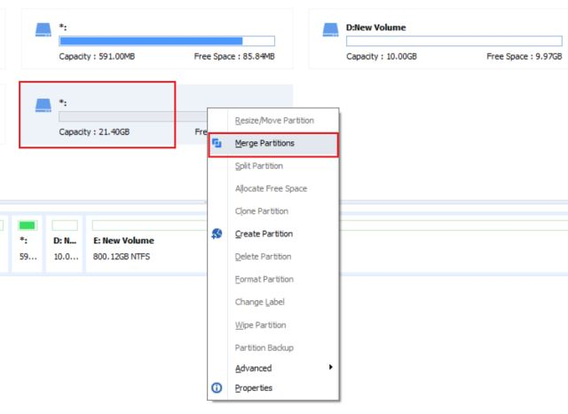 Extend C Drive Space with AOMEI Partition Assistant