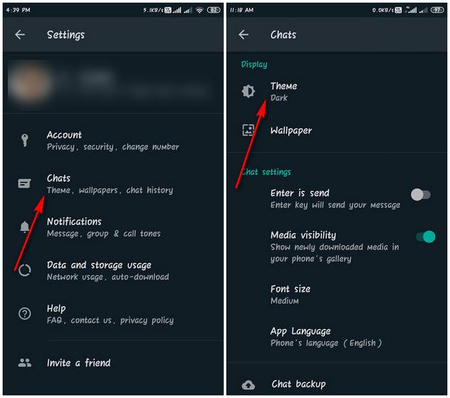WA dark mode Android screenshot body 2