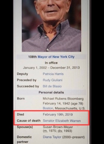 Mike Bloomberg death ss