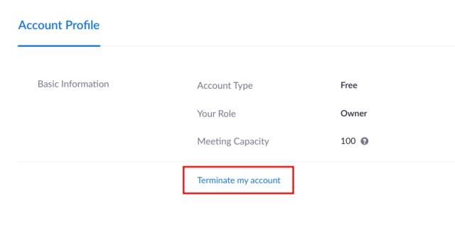 Удалить учетную запись Zoom на Windows, MacOS, Android и iOS