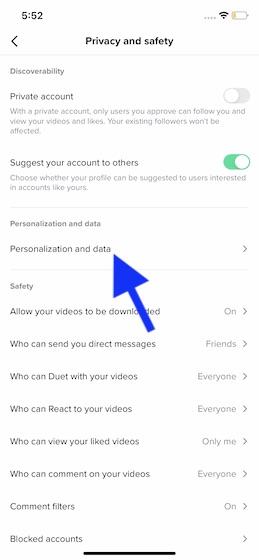 Personalización y datos.