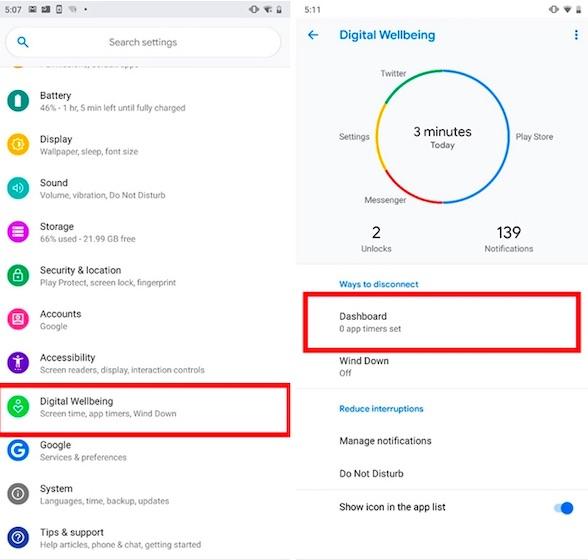 Utilice Bienestar digital en Android