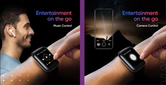realme watch controls