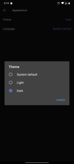 13. Включить Dark Mode Best Signal App Советы и хитрости