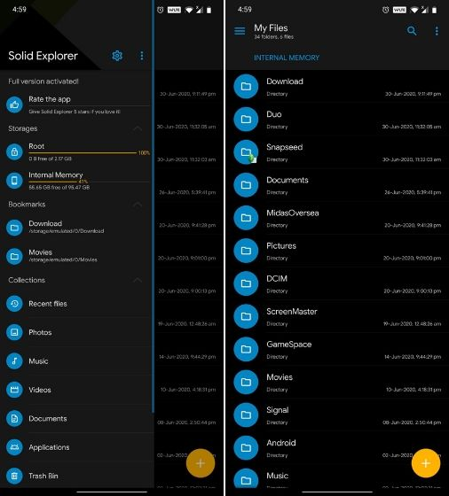 Solid Explorer Лучший ES File Explorer Альтернативные приложения