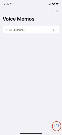 2. Erstellen und Verwalten von Ordnern in Sprachnotizen in iOS 14