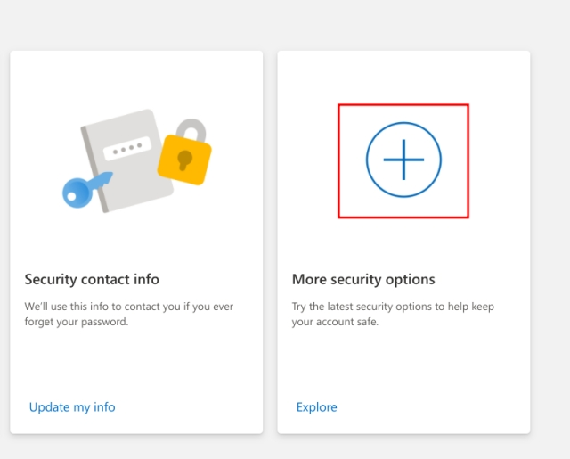 Habilitar la autenticación de dos factores (2FA) para la cuenta de Microsoft