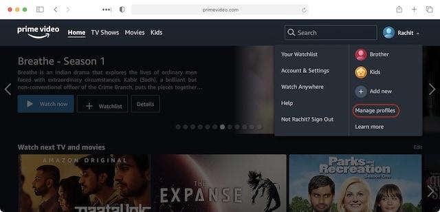 Agregar múltiples perfiles en Prime Video 3