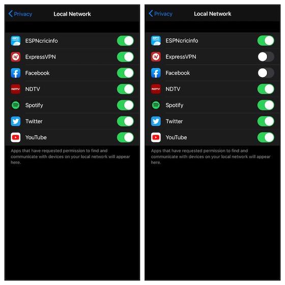 Управление приложениями локальной сети на iOS 14