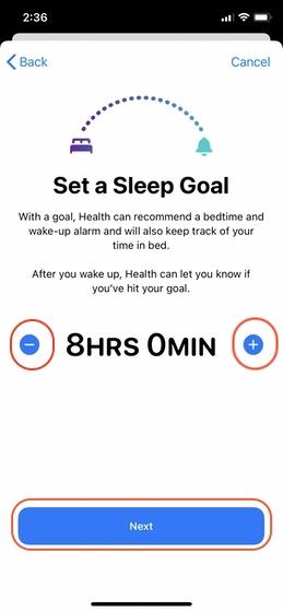 Configurar el seguimiento del sueño en su iPhone 4