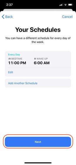 Configurar el seguimiento del sueño en su iPhone 6
