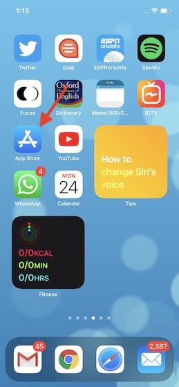 Откройте App Store на своем устройстве