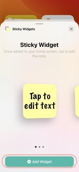 3. Wählen Sie die Widget-Größe