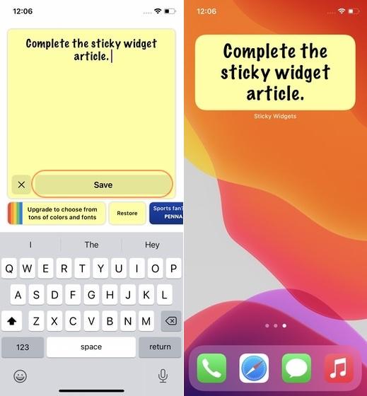7. Fügen Sie dem Startbildschirm des iPhone Haftnotizen hinzu