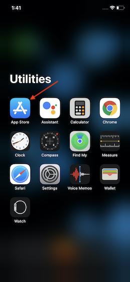 Откройте App Store на своем устройстве iOS.