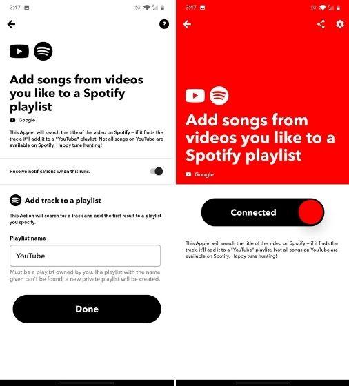 Синхронизируйте YouTube Music и Spotify Playlist