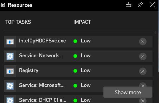 Мониторинг задач в Windows 10 во время игры