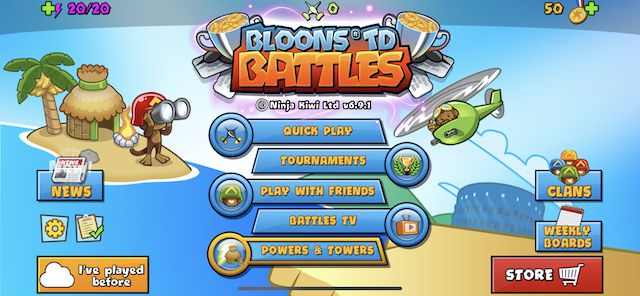 Bloons TD Битвы