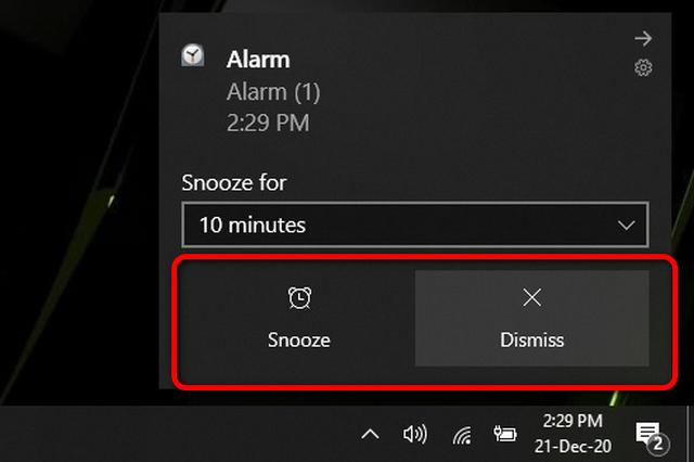параметры отключения звука и повтора сигнала будильника