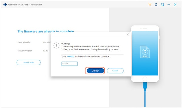 Шаги по разблокировке и восстановлению заблокированных устройств iOS с помощью Dr.Fone 7