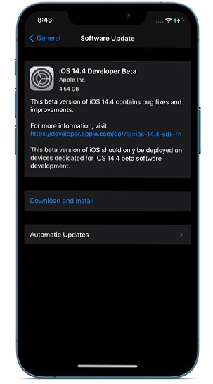Обновить программное обеспечение на iPhone