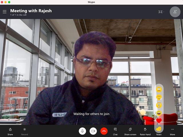 Usar efectos de fondo en Skype