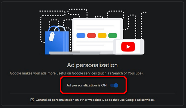Personalización de anuncios de Google