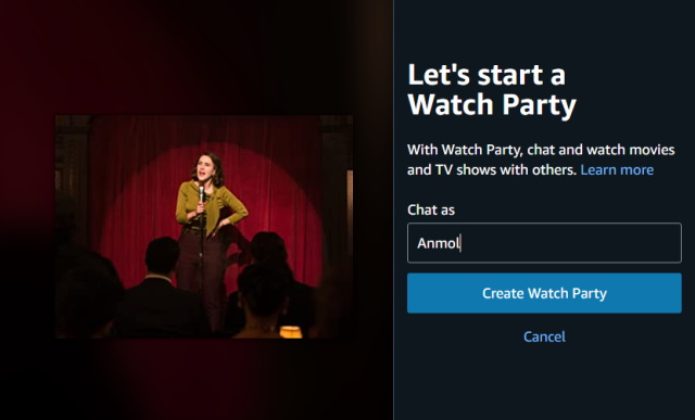 crear fiesta de reloj - video de amazon prime