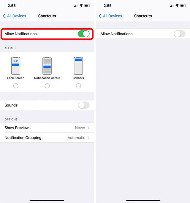 отключить уведомления siri ярлык iphone шаг 5