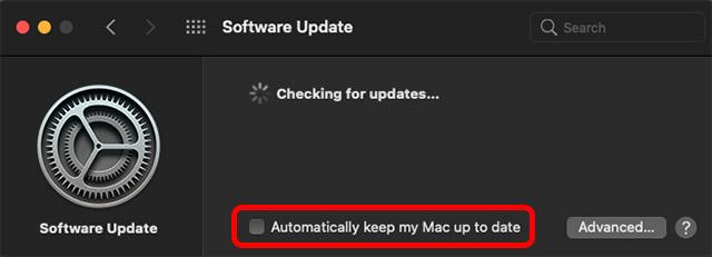 Mac проверяет обновления программного обеспечения