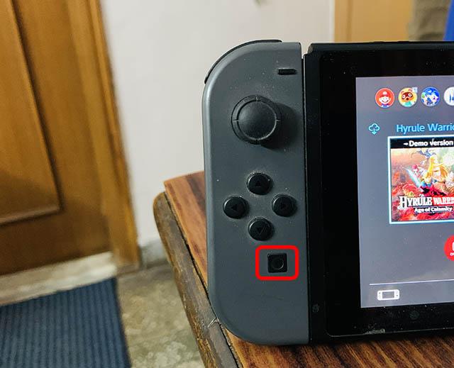 кнопка скриншота nintendo switch