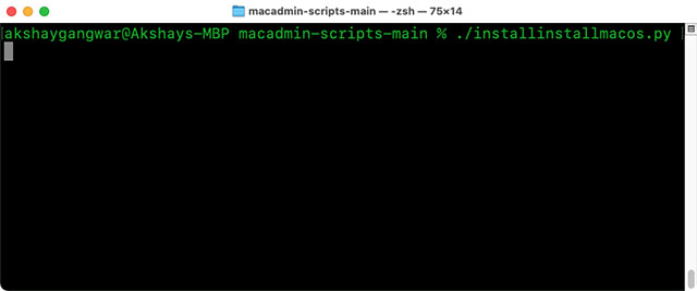 терминал сценариев macadmin