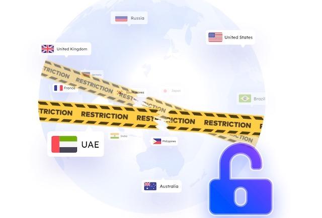 5. Разблокируйте контент с географическим ограничением.