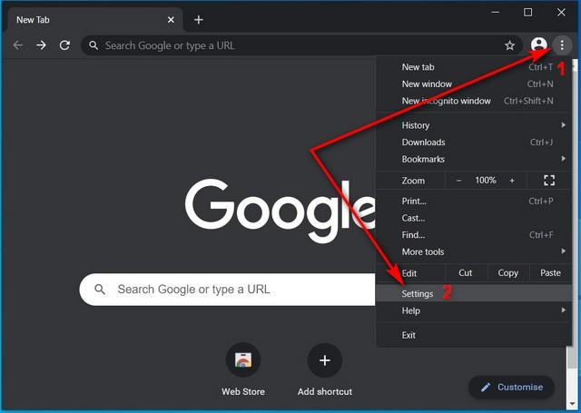 Изменить поисковую систему по умолчанию в Chrome Windows