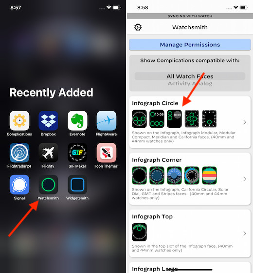 Создание пользовательского усложнения для Apple Watch